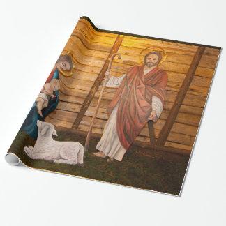 Papier Cadeau Scène de nativité