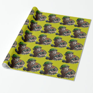 Papier Cadeau Sergent Rover de soldat de chien de bouledogue de