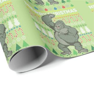 Papier Cadeau Série laide de faune de chandail de Noël de