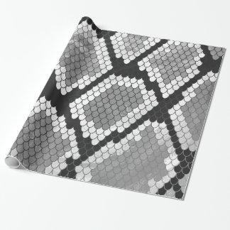 Papier Cadeau Serpent copie grise, de blanc et de noir