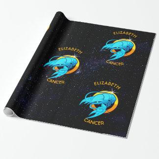 Papier Cadeau Signe d'anniversaire de zodiaque de Cancer avec