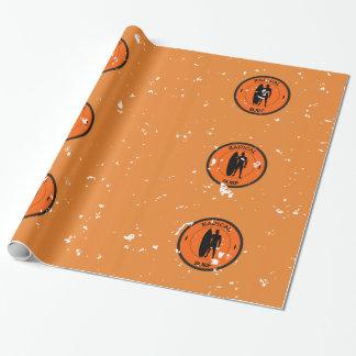 Papier Cadeau Silhouette d'un surfer et d'une planche de surf