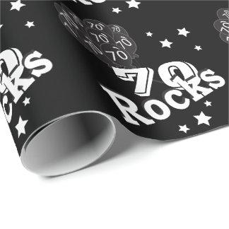 Papier Cadeau Soixante-dixième roches heureuses de