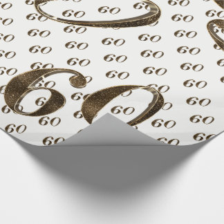 Papier Cadeau soixantième Typographie d'anniversaire de mariage