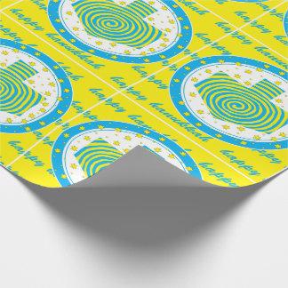 Papier Cadeau Soleils de Dreidel de papier d'emballage de