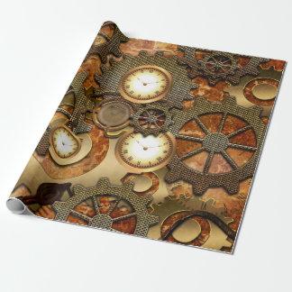 Papier Cadeau Steampunk d'or
