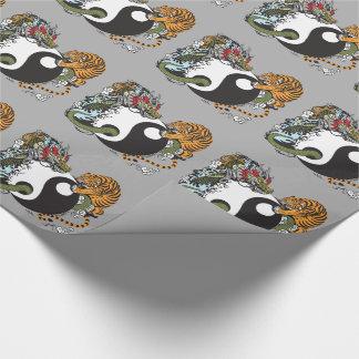 Papier Cadeau symbole de yang de yin de dragon et de tigre