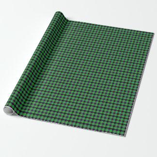Papier Cadeau Tartan vert et pourpre au néon 03
