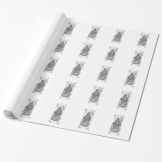 Papier Cadeau Tatouage de ruban de faux de faucheuse