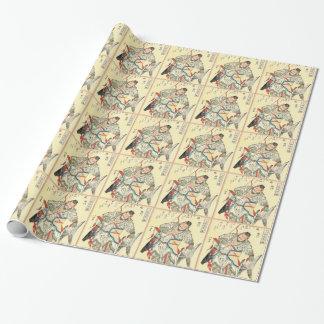 Papier Cadeau Tatouage samouraï japonais Hokusai de croquis de