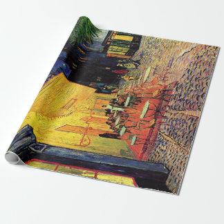 Papier Cadeau Terrasse de café de Vincent van Gogh sur Place du