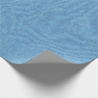 Papier Cadeau Texture bleue moyenne de denim