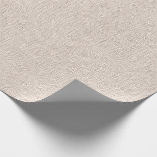 Papier Cadeau Texture de toile de jute colorée par os