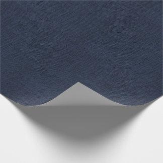 Papier Cadeau Texture de toile de jute de bleu marine