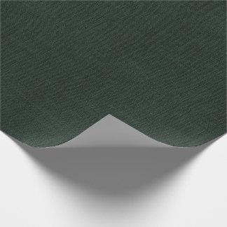 Papier Cadeau Texture de toile de jute de vert forêt