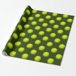 Papier Cadeau Thème de tennis de partie de sports