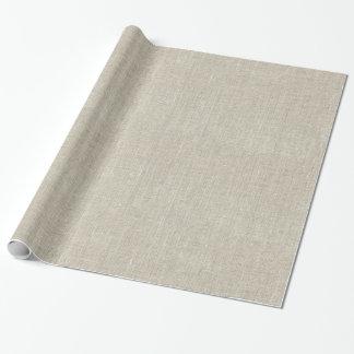 Papier Cadeau Toile beige rustique imprimée