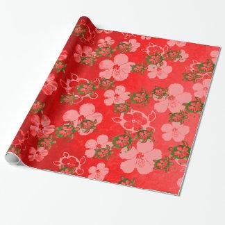 Papier Cadeau Tortues de Honu de Noël
