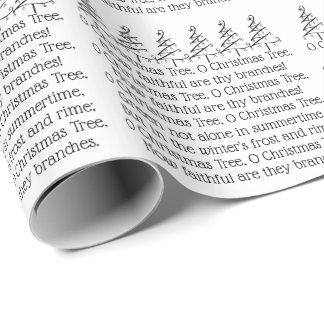 Papier Cadeau Typographie Carol d'arbre de Noël d'O orientée