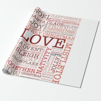 Papier Cadeau Typographie de Noël
