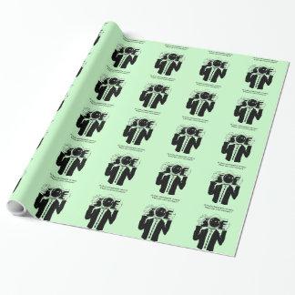 Papier Cadeau Un papier d'emballage brillant de mémoire
