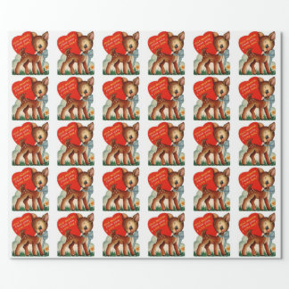 Papier Cadeau Un petit papier d'emballage de Valentine | de cru