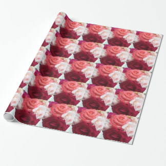 Papier Cadeau Une collection de roses colorés