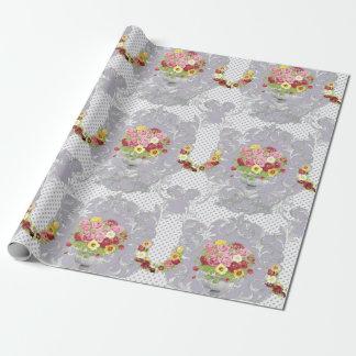 Papier Cadeau Urne florale lilas chic minable