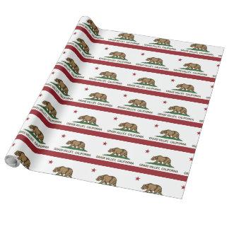 Papier Cadeau Vallée d'herbe de drapeau de République de la