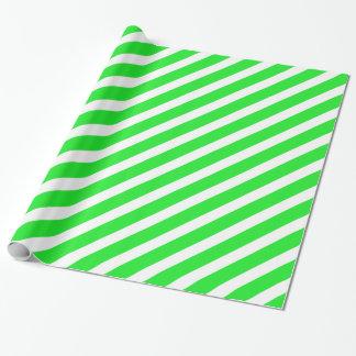 Papier Cadeau Vert de base de la rayure 1
