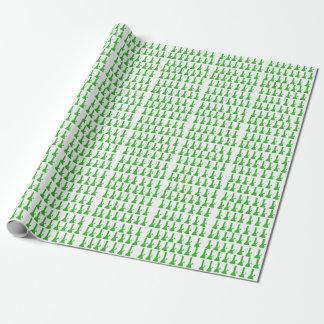 Papier Cadeau Vert et blanc Bong la conception par le