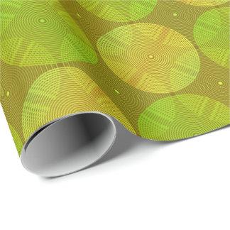 Papier Cadeau Vert et jaune de chaux de Sonoma