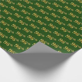 Papier Cadeau Vert, événement d'or quatre-vingt-seizième de Faux