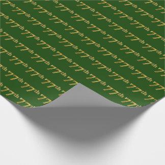 Papier Cadeau Vert, événement d'or soixante-dix-septième de Faux