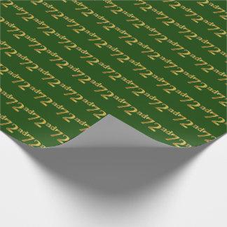 Papier Cadeau Vert, événement d'or soixante-douzième de Faux