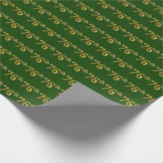Papier Cadeau Vert, événement d'or soixante-seizième de Faux
