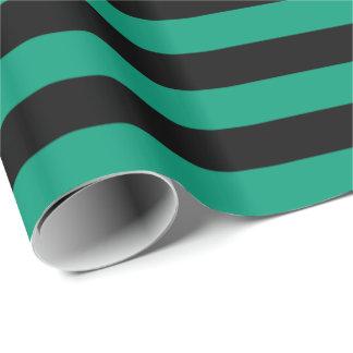 Papier Cadeau Vert vert/rayure noire