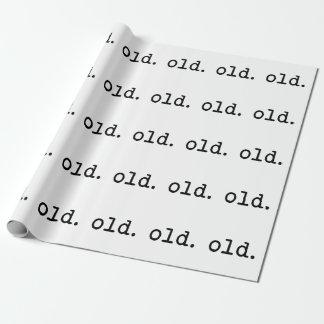 Papier Cadeau Vieux