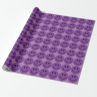 Papier Cadeau Visage souriant pourpre (personnalisable)