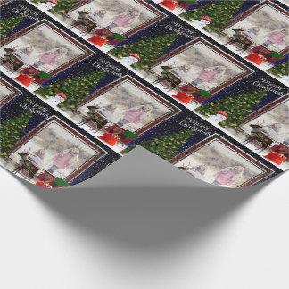 Papier Cadeau Votre scène de vue de Noël de photo