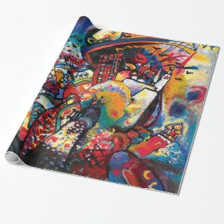 Papier Cadeau Wassily Kandinsky - art abstrait de paysage urbain