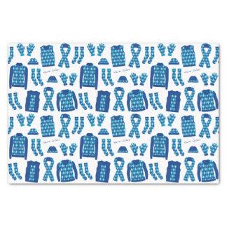 Papier de soie de soie à motifs de losanges bleu