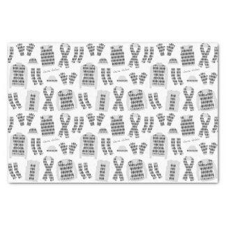 Papier de soie de soie à motifs de losanges gris