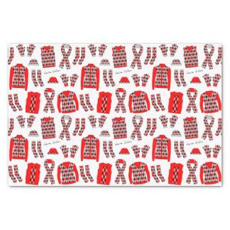 Papier de soie de soie à motifs de losanges rouge