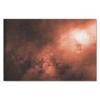 Papier de soie de soie abstrait d'orange