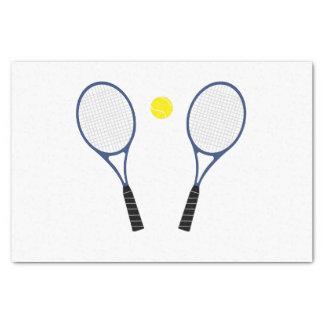 Papier de soie de soie bleu de raquettes de tennis