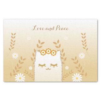 Papier de soie de soie de chat de fleur