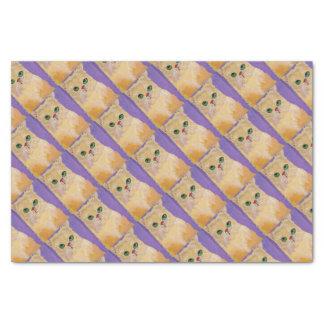 Papier de soie de soie de chat de gingembre