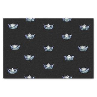 Papier de soie de soie de couronne de bleus