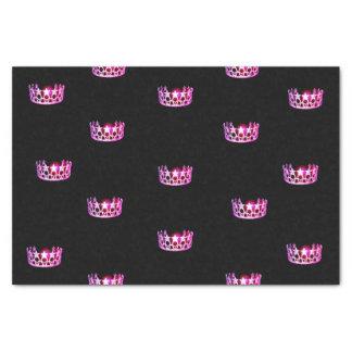 Papier de soie de soie de couronne de rose de